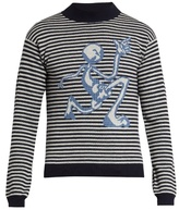 J.w.anderson Mercury Man Wool-jacquard Sweater