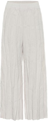 Acne Studios High-rise wide-leg linen pants