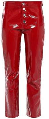 RtA Patent-leather Straight-leg Pants