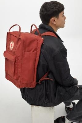 Fjallraven Kanken Autumn Leaf Backpack - Orange ALL at Urban Outfitters