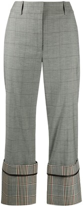 Monse Checked Wide-Leg Trousers
