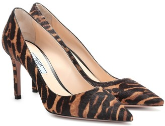 Prada Animal-print calf-hair pumps