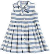 Il Gufo Striped Cotton & Linen Blend Dress