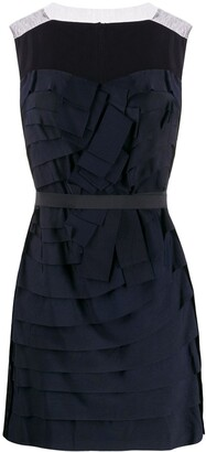 LANVIN Pre-Owned 2008 Pleated Mini Dress