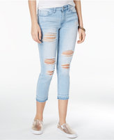 Indigo Rein Juniors' Ripped Released-Hem Cropped Skinny Jeans