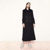Maje Long military-style coat