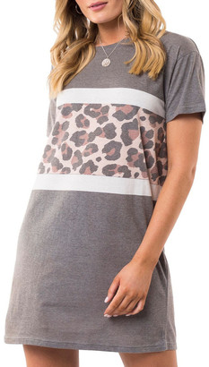 All About Eve Leopard Panel Dress