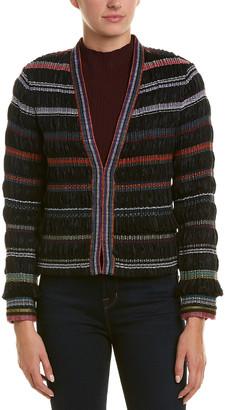 Ecru Wool-Blend Jacket