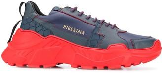 Hide&Jack Crocodile Embossed Sneakers