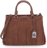Lauren Ralph Lauren Barton Collection Emery Fringed Tote