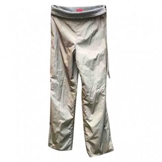 HUGO BOSS Gold Silk Trousers for Women