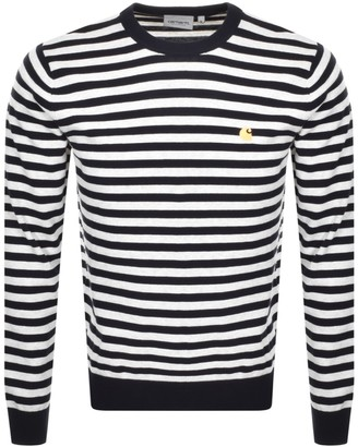 Carhartt Scotty Stripe Knit Jumper Navy