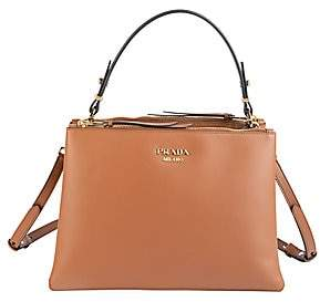 Prada Women's Small Deux Leather Top Handle Bag