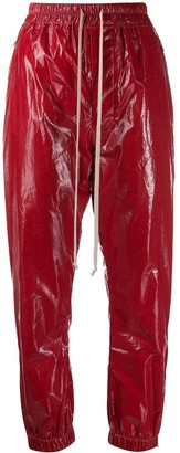 Rick Owens Coated Drawstring Trousers