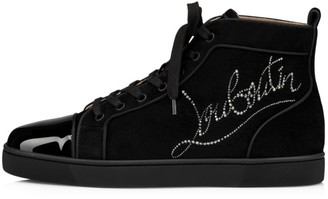 Christian Louboutin Louis Strass Flat Sneakers