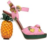 Dolce & Gabbana 140mm Keira Pineapple Cady Sandals
