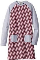 Toobydoo Jersey Knit Shift Geo Dress (Toddler/Little Kids/Big Kids)