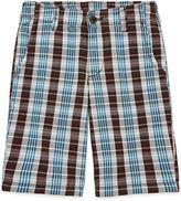 Arizona Plaid Chino Shorts - Boys 8-20, Slim and Husky