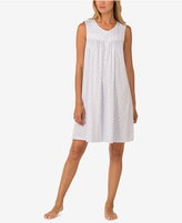 Eileen West Cotton Lace-Trim Nightgown