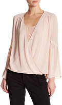 Laundry by Shelli Segal Front Drape Blouse