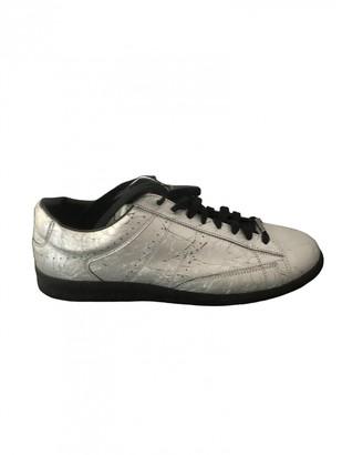 Maison Margiela Silver Leather Trainers