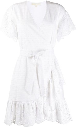 MICHAEL Michael Kors Asymmetric Cotton Mini Dress