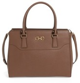 Salvatore Ferragamo Beky - Large Leather Tote - Brown