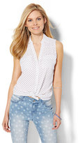 New York & Co. Soho Soft Shirt - Sleeveless - Star Print