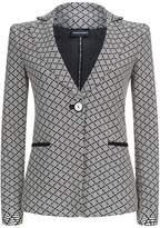 Armani Collezioni Jersey Patterned Blazer