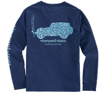 Vineyard Vines Boys Camo Utility Vehicle Long-Sleeve Pocket T-Shirt