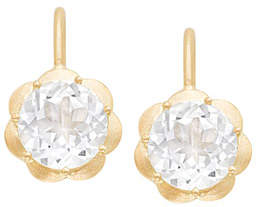 Jamie Wolf Petite Scallop Drop Earrings in White Topaz