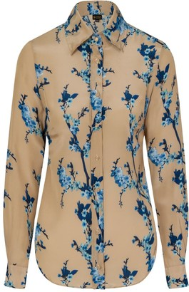 Cherry Blossom Silk Shirt