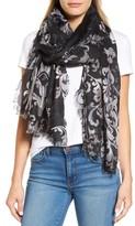 Nordstrom Women's Heirloom Damask Cashmere & Silk Scarf
