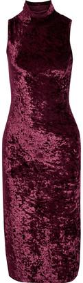 Caroline Constas Crushed-velvet Turtleneck Dress