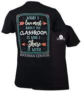 Southern Couture SC Classic Love My Classroom Womens Classic Fit T-Shirt -