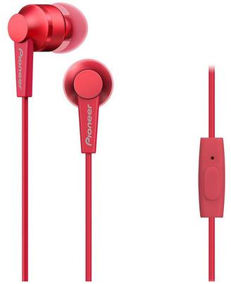 Pioneer SE-C3T-R In Ear Bud Headphones W/ Mic - Red