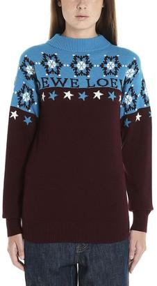 Loewe Logo Roll Neck Knitted Sweatshirt