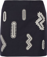 Stella McCartney Becca embroidered twill mini skirt