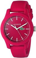 Lacoste Women's 'Ladies 12.12' Quartz Resin and Silicone Automatic Watch, Color:Pink (Model: 2000957)