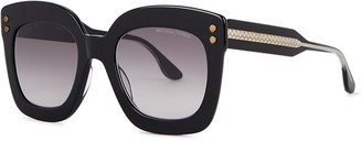 Bottega Veneta Black Oversized Sunglasses