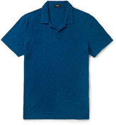 Theory Willem Nebulous Slim-fit Slub Cotton Polo Shirt