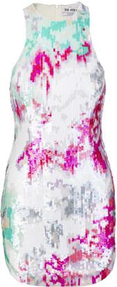 ATTICO Multicolor Sequin-embellished Dress