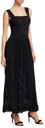 Alaia Falabalas Maxi Dress