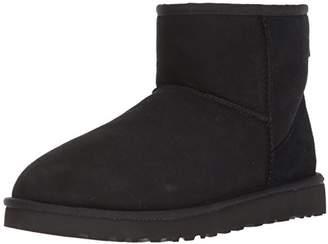 UGG Men's Classic Mini Winter Boot, Black, UK 9 (Manufacture size: 10)