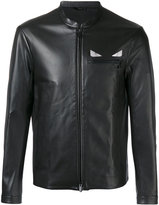 Fendi 'Metal eye' leather jacket