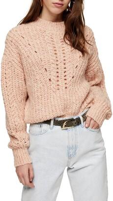 Topshop Textured Pointelle Sweater
