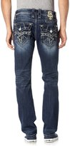Rock Revival Men's Steven J73 Straight Cut Jeans