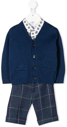 Colorichiari Check Print Trouser Set