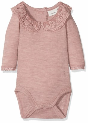 Name It Baby Girls' Nbfwang Wool Need.ls Body W/col Noos Footies