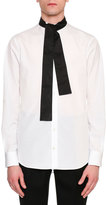Alexander McQueen Tie-Collar Cotton Shirt